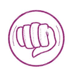 fist hand symbol vector image