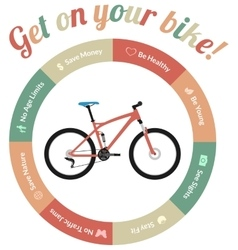 Get on your bike vector