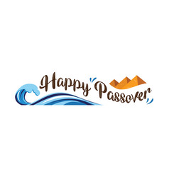 Happy passover abstract banner vector