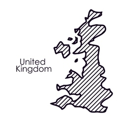 Isolated united kingdom map design vector