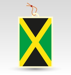 jamaican made in tag vector image