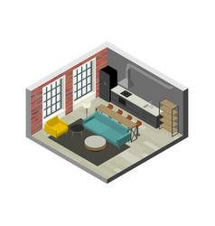 living room interior vector image vector image