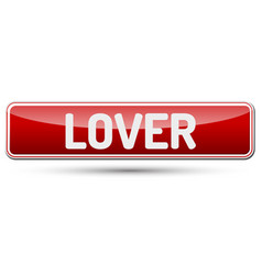 Lover - abstract beautiful button with text vector