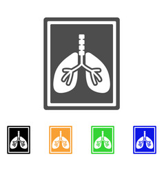 Lungs fluorography flat icon vector