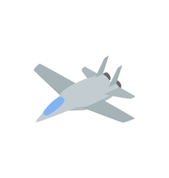 Military aircraft icon comics style vector image