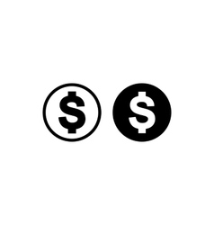 Money simple icon vector image vector image