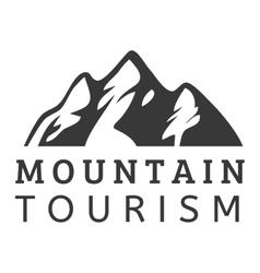 Mountain icon badge vector image vector image