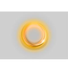 Neon light soft gold vector