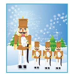 Nut cracker toy soldier vector image