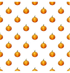 Orange pumpkin pattern vector