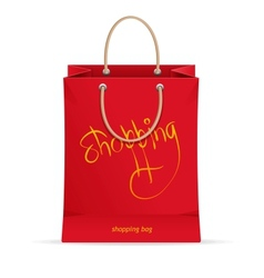 paper shopping bag isolated on white vector image vector image