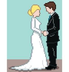 pixel wedding background vector image vector image