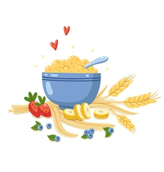 Porridge vector