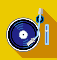 Record player phonograph icon flat style vector