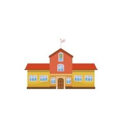 School building icon cartoon style vector image