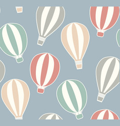Seamless vintage texture with stickers hot air vector