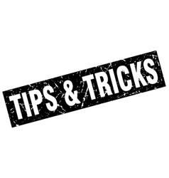 square grunge black tips tricks stamp vector image vector image