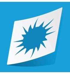 Starburst sticker vector
