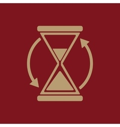 The hourglass icon clock symbol vector