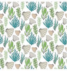 underwater repeating pattern seamless seaweed vector image vector image
