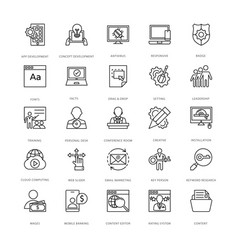 web design and development icons 12 vector image vector image
