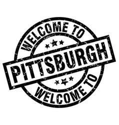 Welcome to pittsburgh black stamp vector