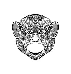 Zentagle monkey head vector
