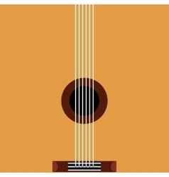 guitar acoustic pop art style vector image