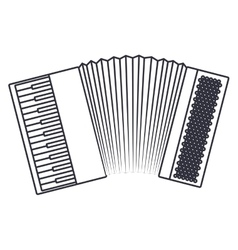 Isolated accordion instrument design vector
