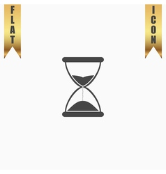 Hourglass time icon isolated vector image