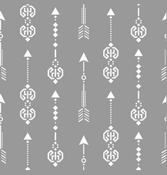 aztec ethnic arrow ornament seamless vector image