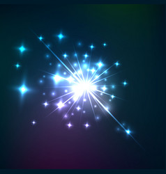 effect of cosmic lens flare burst vector image