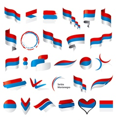 Biggest collection of flags of serbia montenegro vector