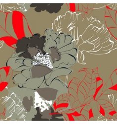 floral leaves background vector image