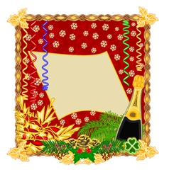 Merry New Year happy background vector image