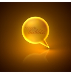 with golden speech bubble vector image