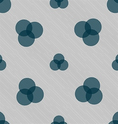 Color scheme icon sign seamless pattern with vector