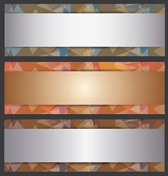 The metallic banner abstract template vector