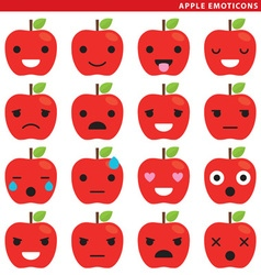 Apple emoticons vector