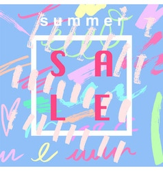 Summer sale blue vector