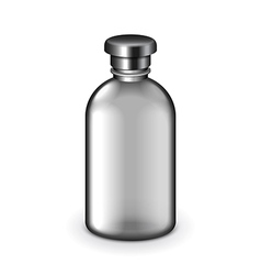 Cosmetic dark plastic bottle isolated vector
