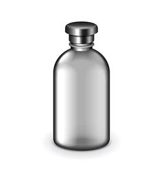 Cosmetic dark plastic bottle isolated vector image