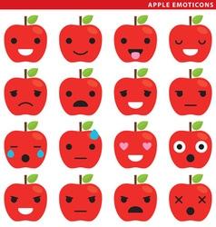 apple emoticons vector image vector image