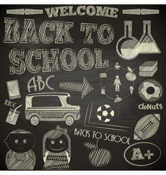 Back to School Poster vector image