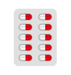 Blister with pills vector