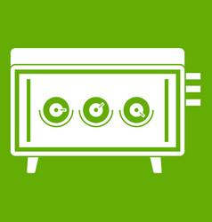 cd changer icon green vector image vector image