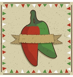 chilli pepper decoration vector image vector image