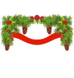 Christmas garland vector image