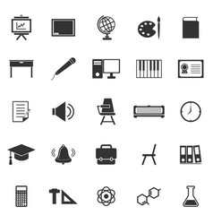 Classroom icons on white background vector