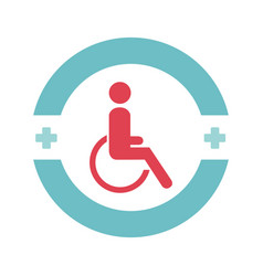 disable person in wheelchair vector image vector image